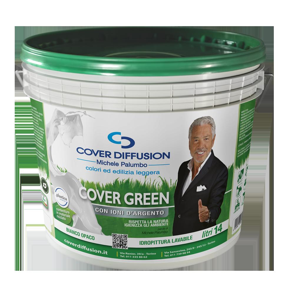 Cover Green Idropittura murale lavabile, igienizzante agli ioni d'argento